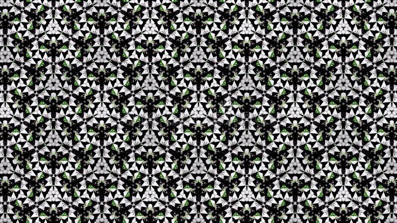Abstrakta koloru zielona biała czarna tapeta obrazy royalty free