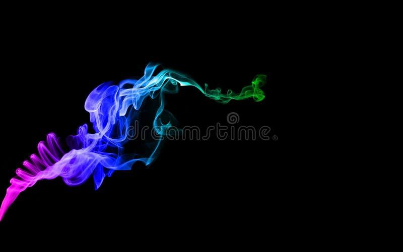 Abstrakta konster för färgrökbakgrund royaltyfri bild