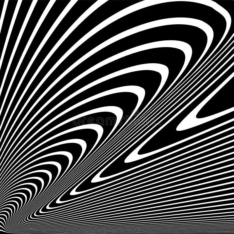 Abstrakta krabba linjer design abstrakt svart white f?r designillustrationtextur royaltyfria bilder