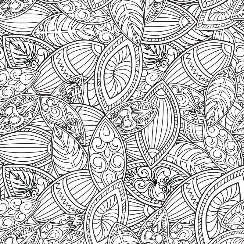 Abstrakta kreskowy bezszwowy wzór Kafelkowy geometryczny tło ilustracji
