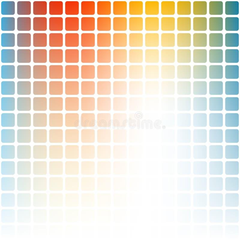 Abstrakta kropkowany kolorowy gradientowy tło ilustracja wektor