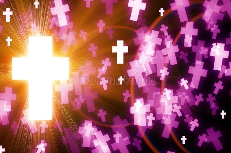 Abstrakta krzyża światła tło ilustracja wektor