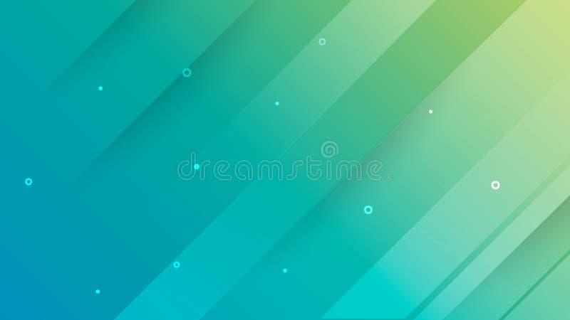 Abstrakta kształta zielony geometryczny tło z białej linii kwadrata narzuty technologii tła abstrakcjonistycznym stylem ilustracja wektor