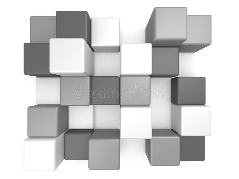 Abstrakta kuber 3D stock illustrationer
