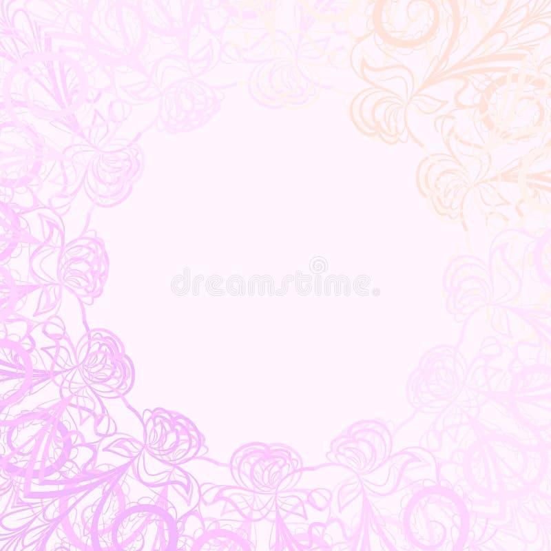 Różowa round rama ilustracja wektor