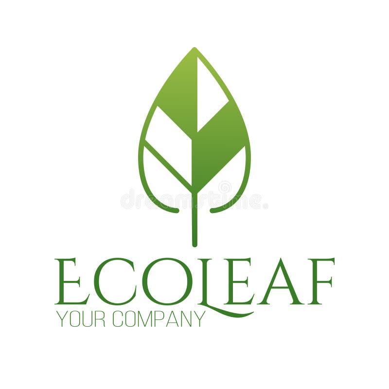 Abstrakta liścia logo zielonej ikony wektorowy projekt Krajobrazowy projekt, ogród, wektor logo, rośliny, natury i ekologii, Ekol royalty ilustracja