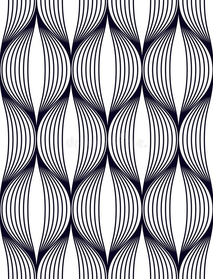 Abstrakta linjer geometrisk sömlös modell, backgroun för tyg för vektorrepetition ändlös royaltyfri illustrationer