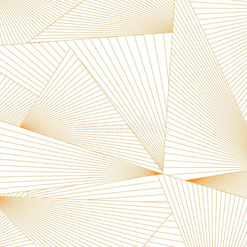 Abstrakta linjer triangelformbakgrund royaltyfri illustrationer