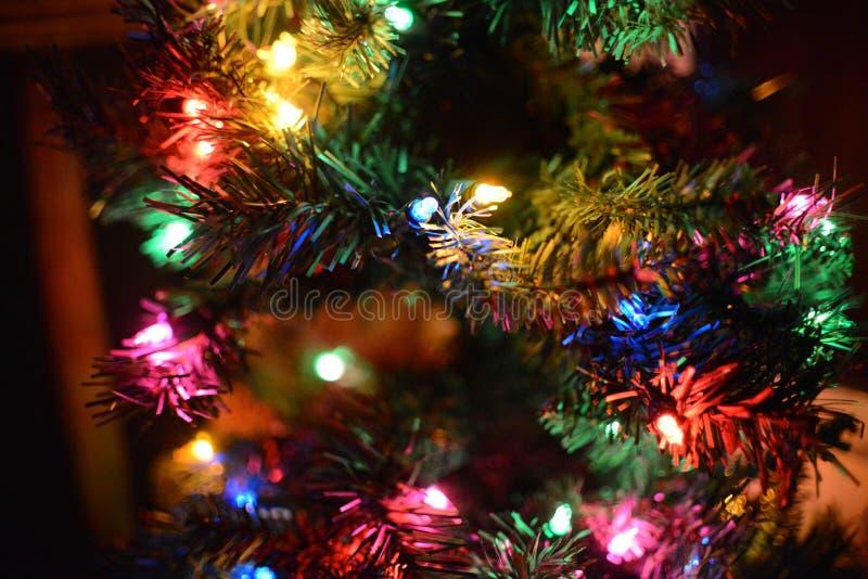 Abstrakta ljus för ferie för julljus royaltyfria bilder