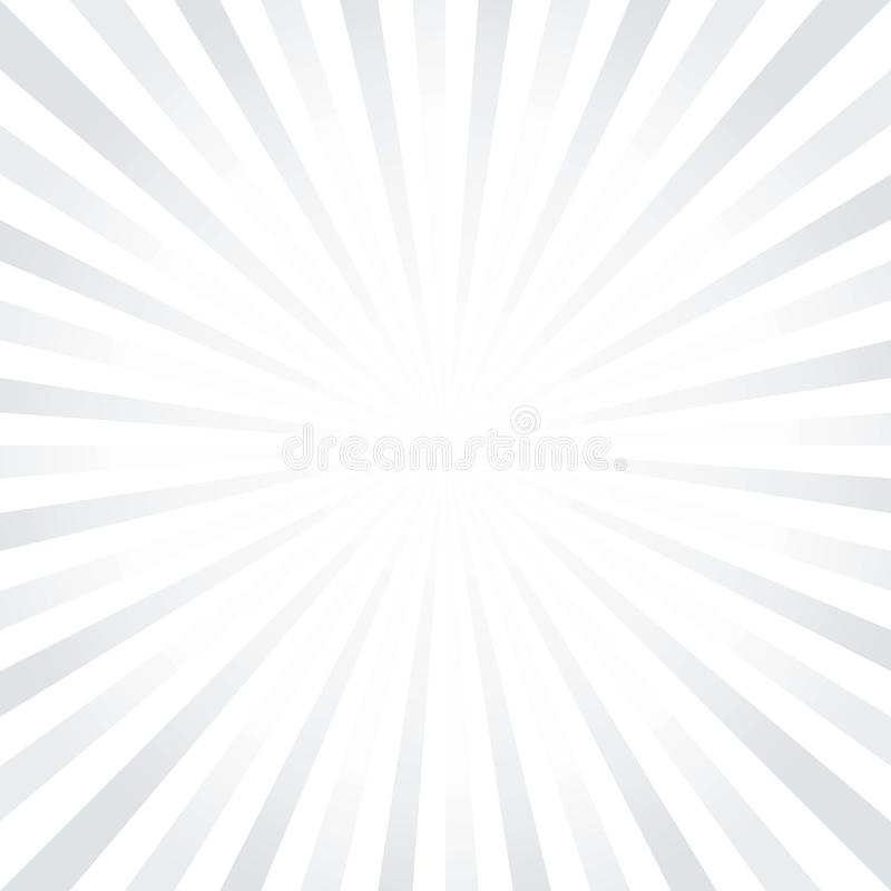 Abstrakta ljusa Gray White rays bakgrund Cmyk för vektorEPS 10 royaltyfri illustrationer