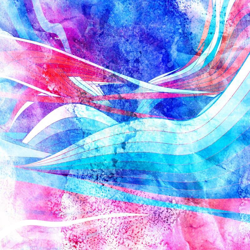 Abstrakta ljusa vågor för diagram royaltyfri illustrationer