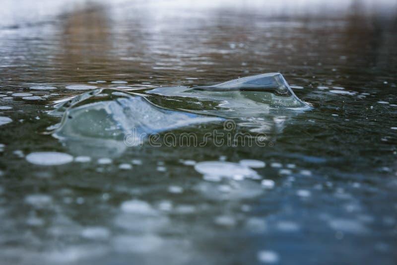 Abstrakta lodowy tło z szczegółami zdjęcie royalty free