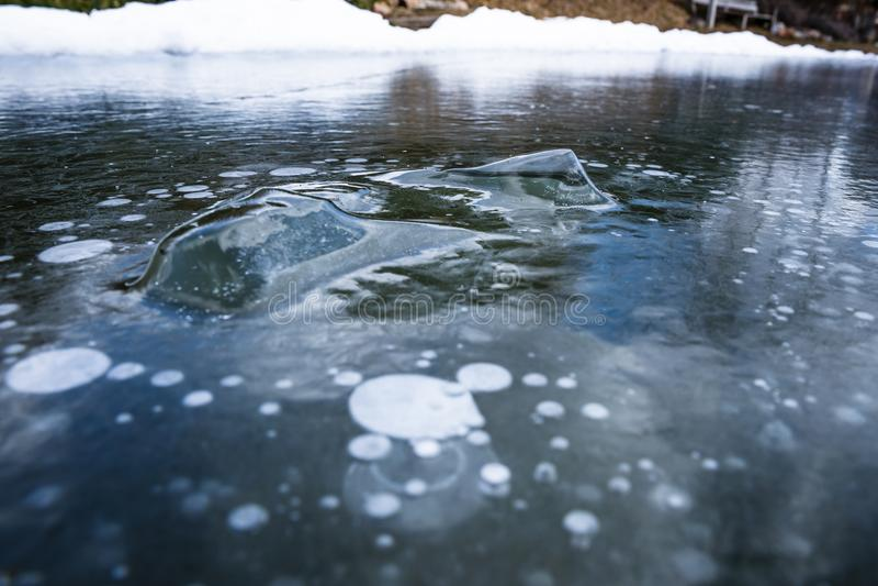 Abstrakta lodowy tło z szczegółami zdjęcia stock