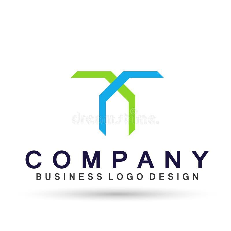 Abstrakta logo kwadrat kształtujący biznesowy zjednoczenie na Korporacyjnym Inwestuje Biznesowego logo projekt Pieni??na inwestyc royalty ilustracja