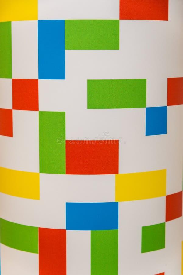 Abstrakta mångfärgade rektanglar på en vit bakgrund fotografering för bildbyråer
