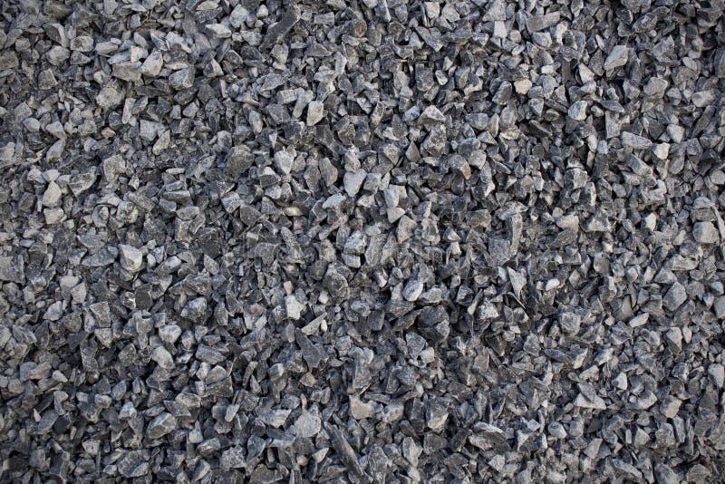 Abstrakta mörka Grey Gravel Texture arkivfoto