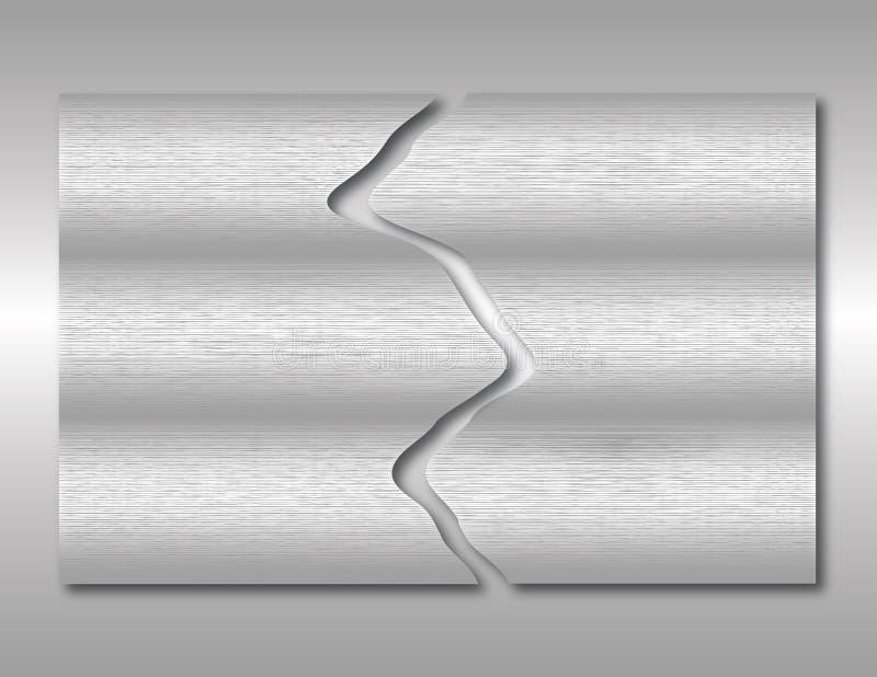 Abstrakta metalu Oczyszczony tło ilustracji