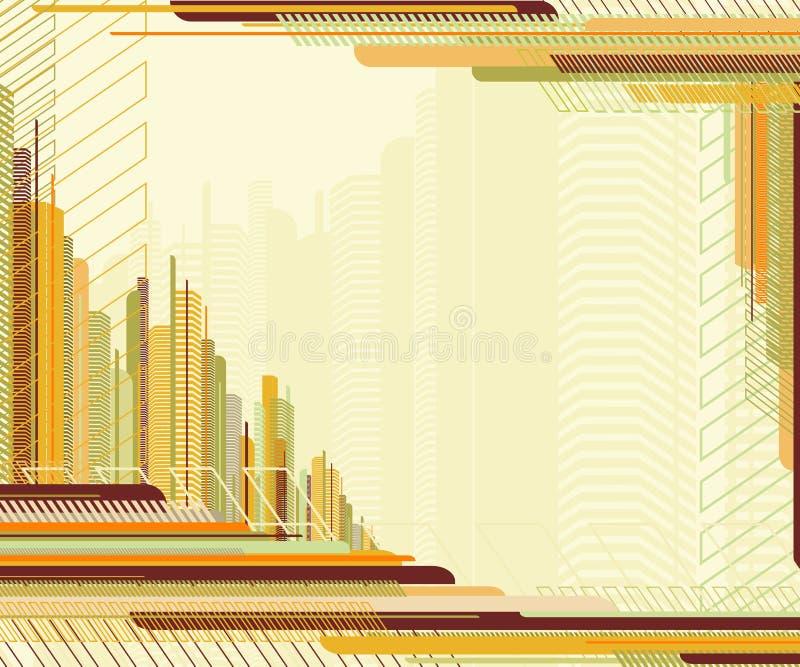 abstrakta miejskiego ramowy ilustracja wektor