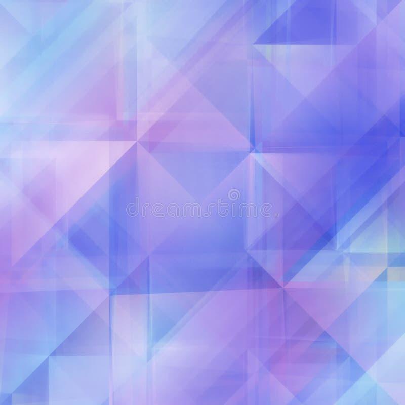 Abstrakta mjuka Blått-lilor geometrisk bakgrund royaltyfri illustrationer