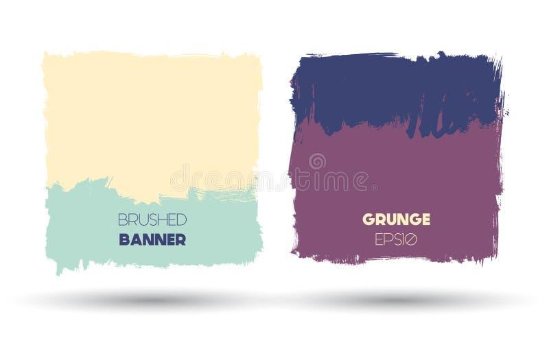 Abstrakta moderna grungebaner royaltyfri illustrationer