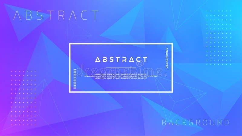 Abstrakta, nowożytnego, dynamicznego, modnego trójboka błękitny tło dla plakatów, sztandary, strony internetowe, chodnikowowie i  ilustracja wektor