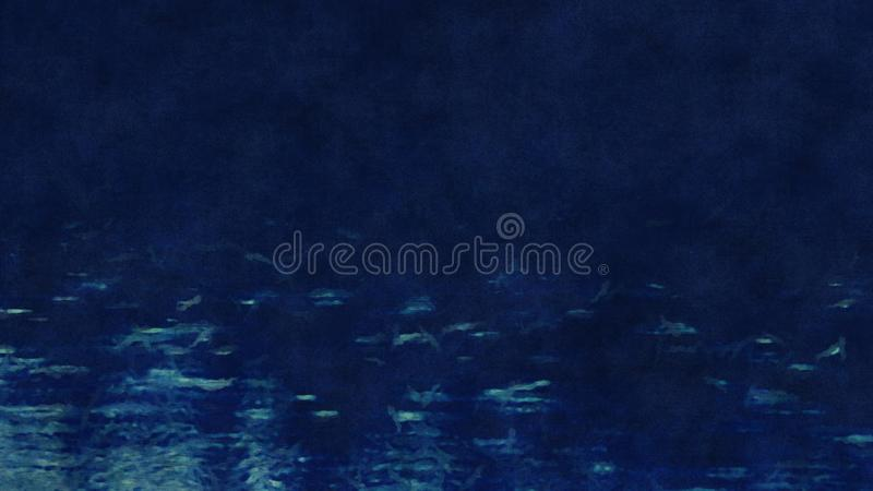 Abstrakta obrazu wodny zmrok - błękit ilustracji