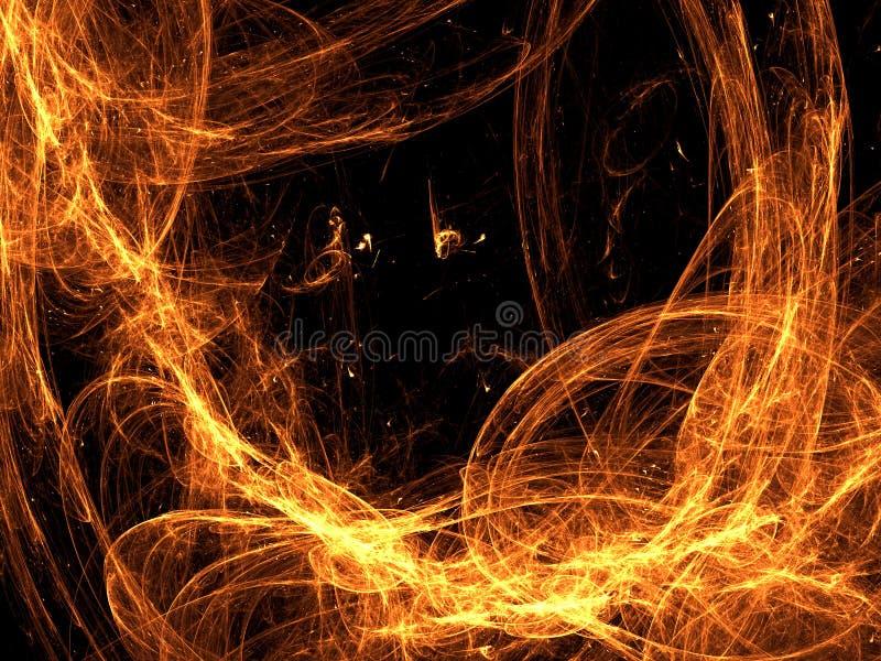 Abstrakta ogienia rama - cyfrowo wytwarzający wizerunek ilustracja wektor