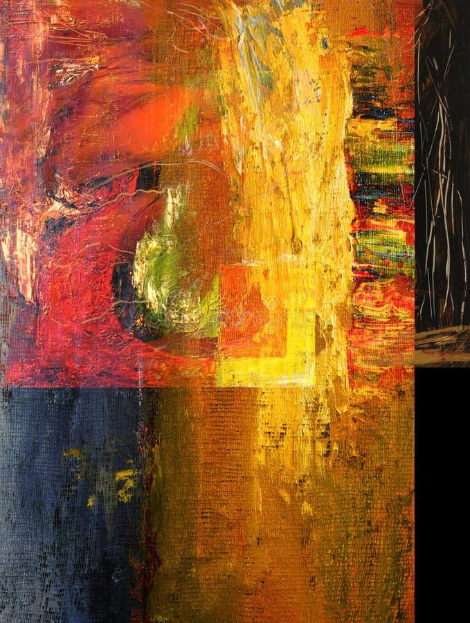 Abstrakta olej obrazy royalty free
