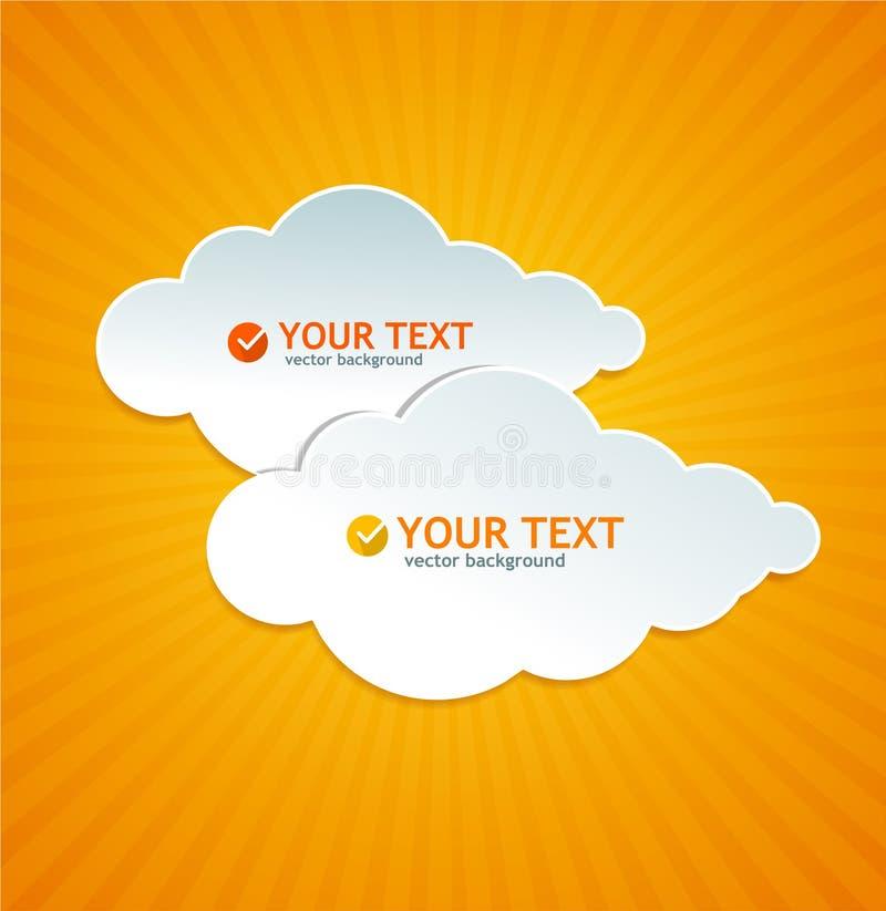 Abstrakta papieru chmura jak mowa bąbel ilustracji