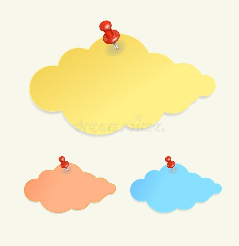 Abstrakta papieru chmura jak mowa bąbel royalty ilustracja
