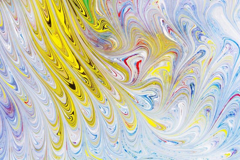 Abstrakta, pięknego i barwiącego deseniowy nowożytny obraz, zdjęcia stock