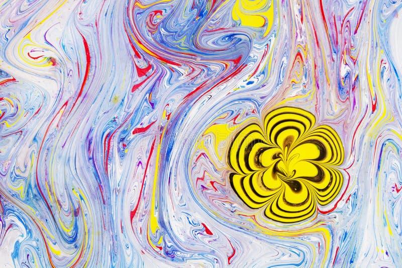 Abstrakta, pięknego i barwiącego deseniowy nowożytny obraz, obrazy stock