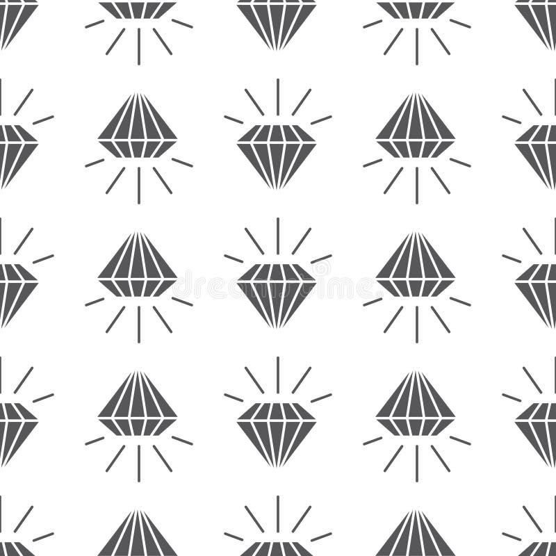 Abstrakta popielaty bezszwowy wzór z diamentami ilustracji