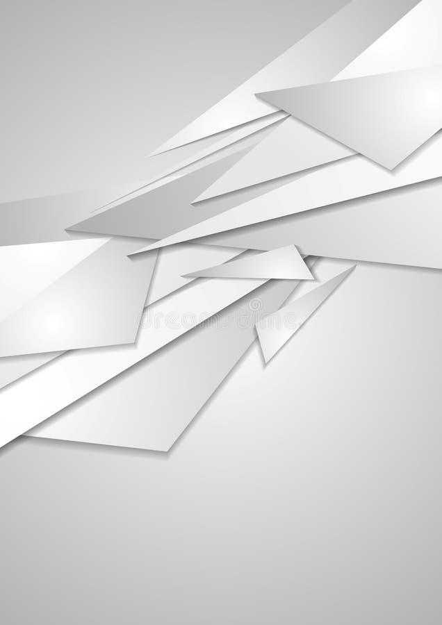 Abstrakta popielaty geometryczny korporacyjny tło ilustracji