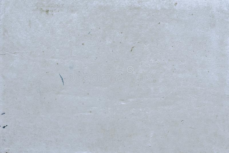 Abstrakta popielaty pusty tło z widoczną teksturą z brud plamami, farba punkty, włączenie błonnik, grunge rocznik fotografia stock