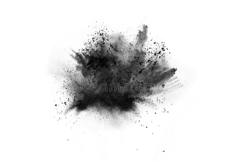 Abstrakta proszek splatted na białym tle zdjęcia stock