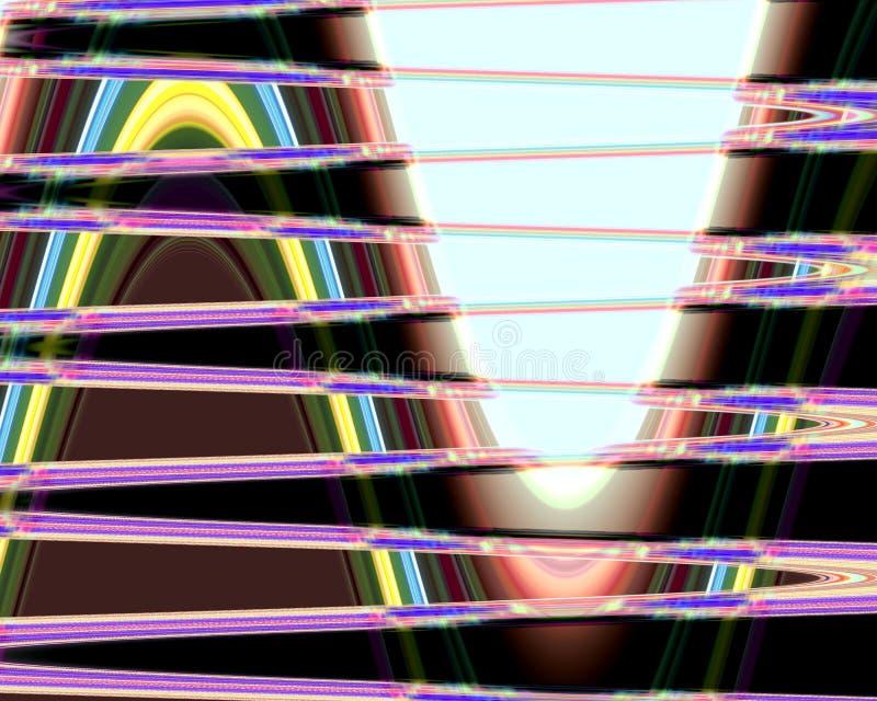 Abstrakta purpurfärgade mörka vätskeformer, diagram, geometrier, bakgrund och textur royaltyfri illustrationer