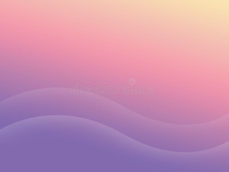 Abstrakta purpurfärgade rosa färger och gulingbakgrund eller textur, för affärskort, designbakgrund med utrymme för text stock illustrationer
