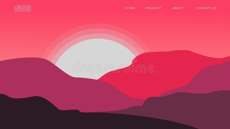 abstrakta pustynnego tła wektorowy ilustracyjny szablon stosowny dla lądować strona sztandaru magazynu inny i plakat ilustracja wektor
