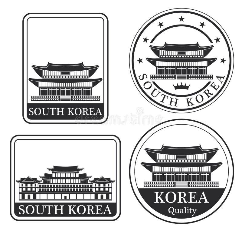 Abstrakta Pyongyang stock illustrationer
