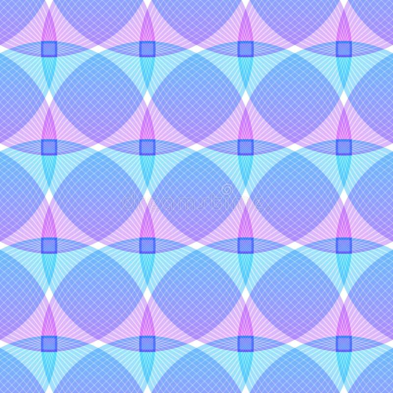 Abstrakta różowy błękitny tło, geometryczni kształty royalty ilustracja