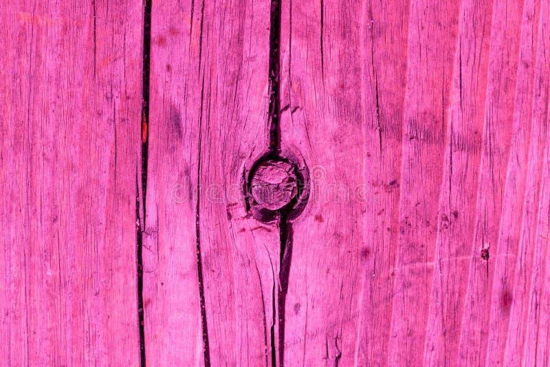Abstrakta różowy drewniany tło Naturalna drewno deska maluje w menchia kolorze z bliska zdjęcia stock