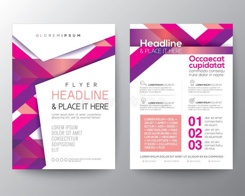 Abstrakta różowy magenta tło dla Plakatowego broszurki ulotki projekta royalty ilustracja