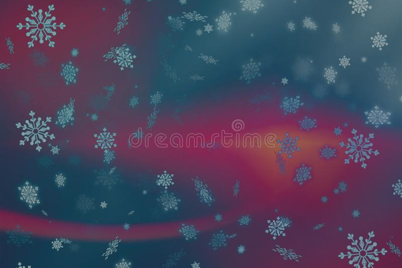 Abstrakta Różowy, purpurowy Bożenarodzeniowy tło z i ilustracji