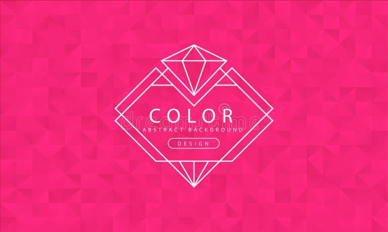 Abstrakta różowy tło, różowe tekstury, sztandar różowa tapeta, wielobok menchia barwi, wektorowa ilustracja ilustracja wektor