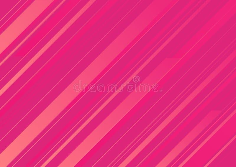 Abstrakta różowy tło z różowymi lampasami ilustracji