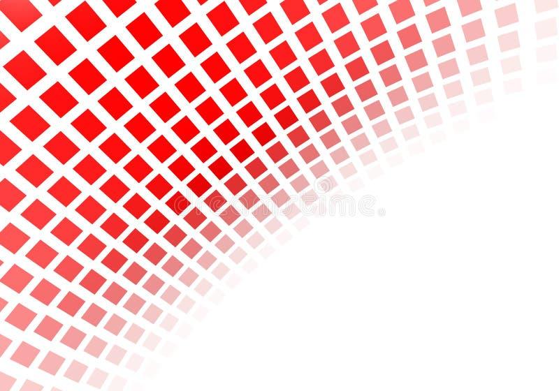 Abstrakta röda fyrkanter vektor illustrationer