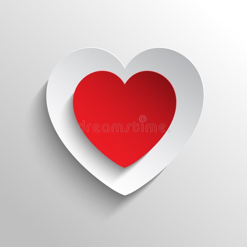 Abstrakta röda hjärtor planlägger med den unika och fantastiska illustrationen vektor illustrationer