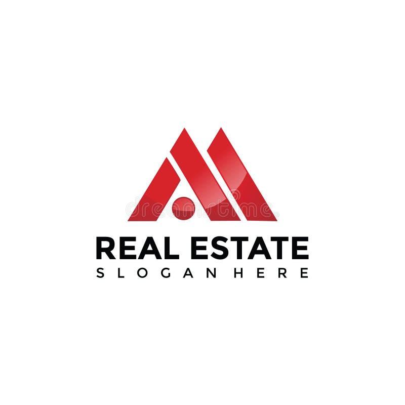 Abstrakta Real Estate Logo Template Vektorillustratör EPS 10 royaltyfri illustrationer