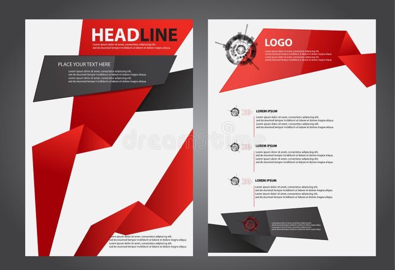 Abstrakta reklamblad broschyr, häfte, årsrapport, designmallar vektor illustrationer